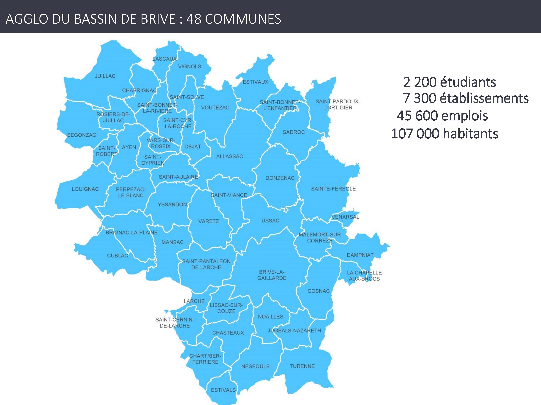 Chiffre clés Agglo du Bassin de Brive en Corrèze