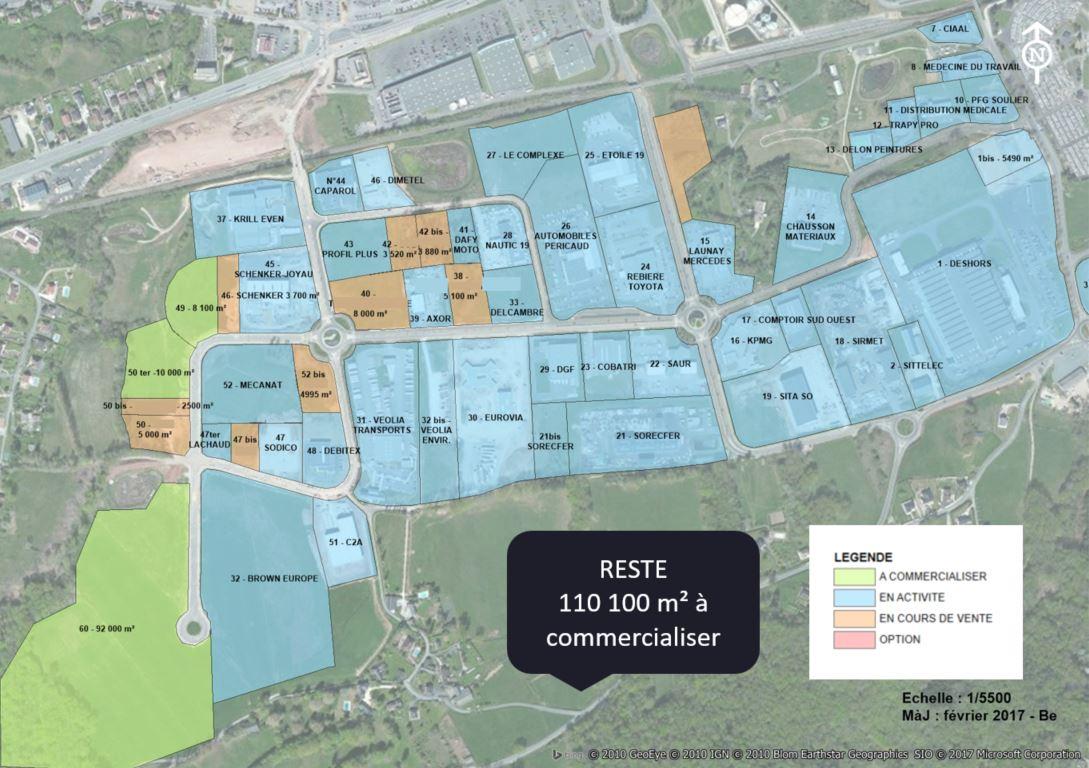 terrains disponibles sur PEBO Brive Ouest zone d'activités